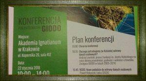"""Zapraszamy na Konferencje, pt. """"RODO nowe przepisy, nowe obowiązki, nowy zawód"""" – Kraków 22.01.2018r"""