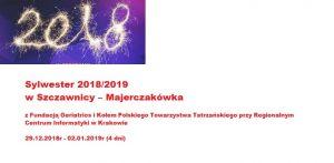 Sylwester 2018/2019  w Szczawnicy –  Majerczakówka