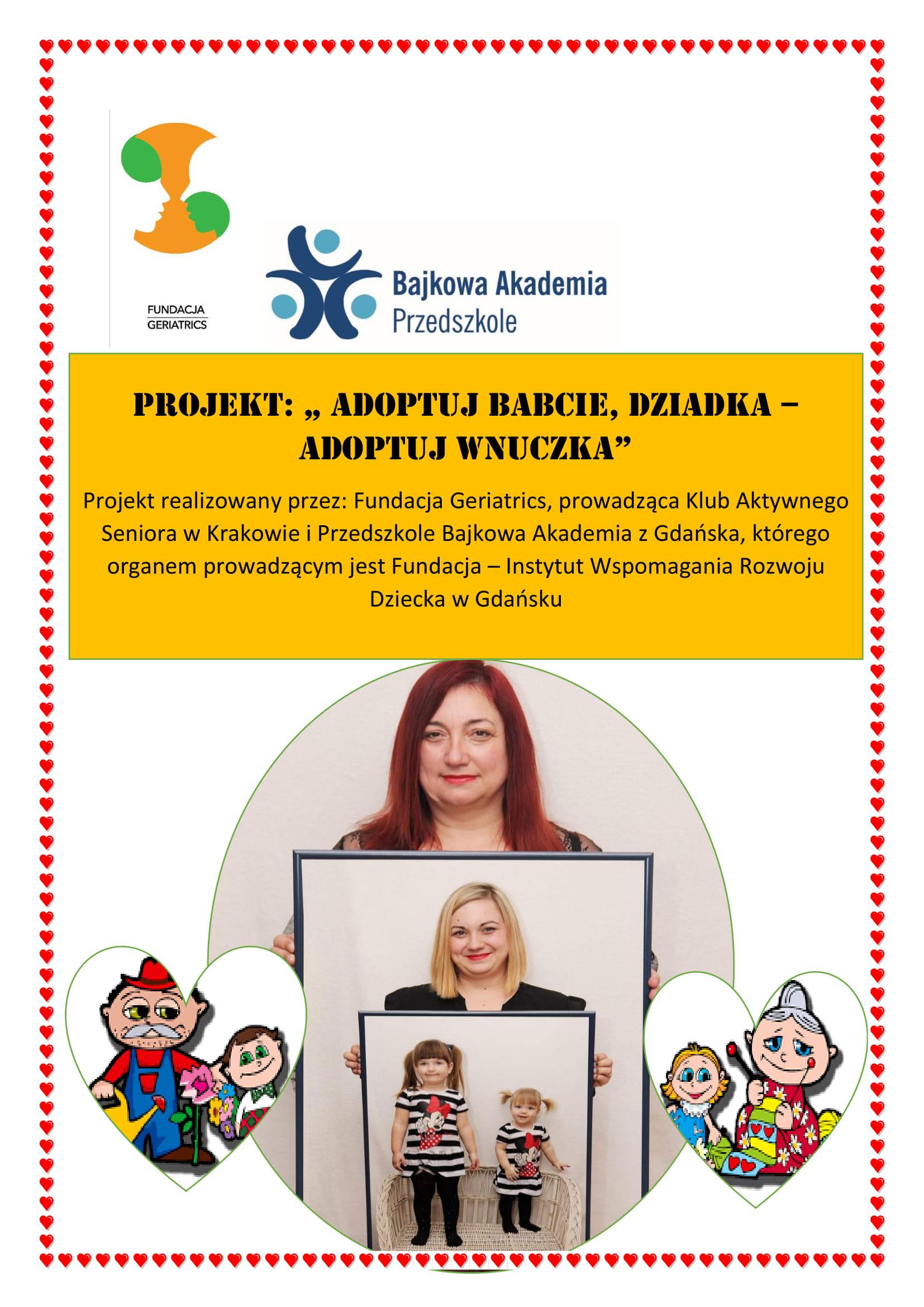 Dzień Babci i Dziadka z Fundacją Geriatrics i Przedszkolem Bajkowa Akademia z Gdańska
