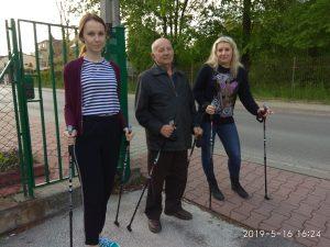 16.05.2019r Zajęcia ogólno-ruchowe nordic walking- III zajęcia