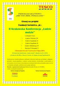 """""""Decydujesz pomagamy"""" – wszyscy głosujemy w okresie od 17.06.2019r-14.07.2019r na projekt II Krakowska Konferencja """"Ludzie motyle"""""""