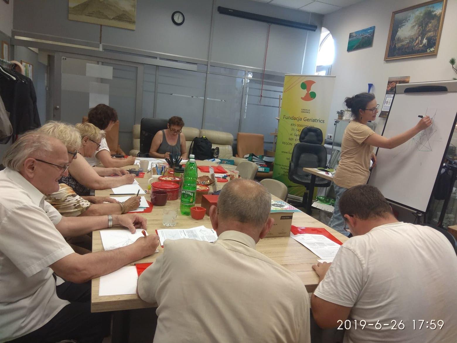 26.06.2019r Warsztaty malarskie -grupa podstawowa A1 (III zajęcia)