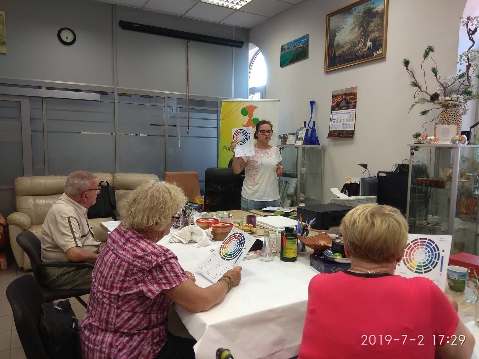 02.07.2019r Warsztaty malarskie -grupa podstawowa A1 (IV zajęcia)