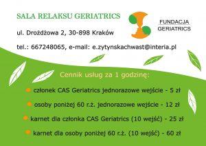 Sala relaksu Geriatrics
