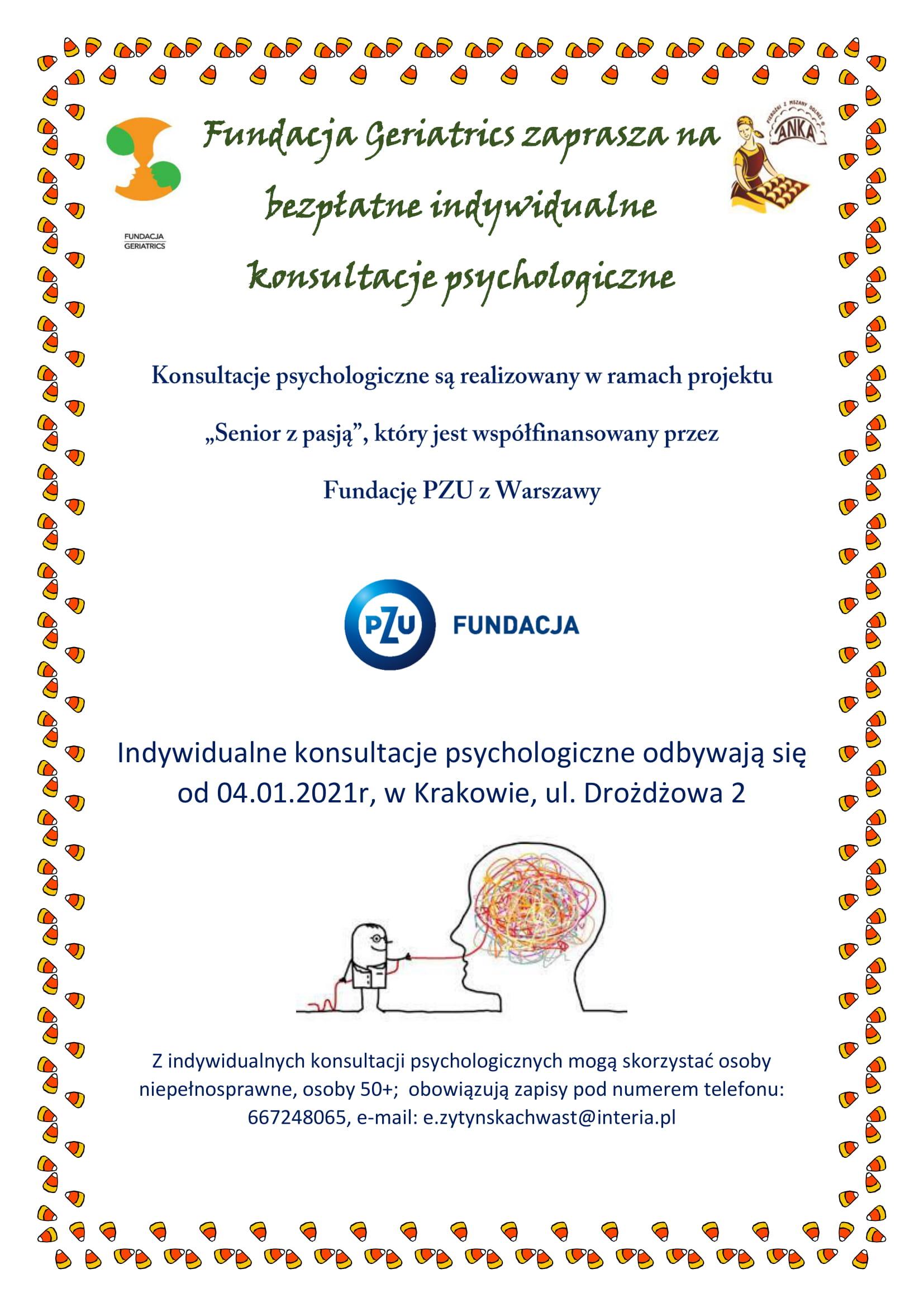 Indywidualne konsultacje psychologiczne